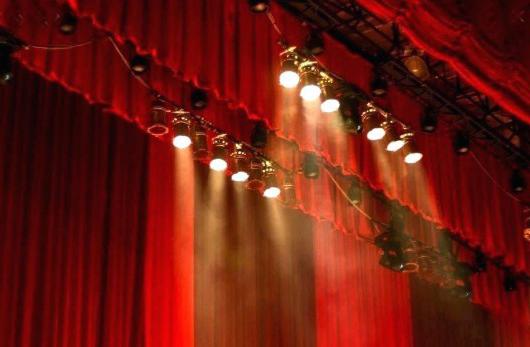 telones para teatros con iluminación digital controles