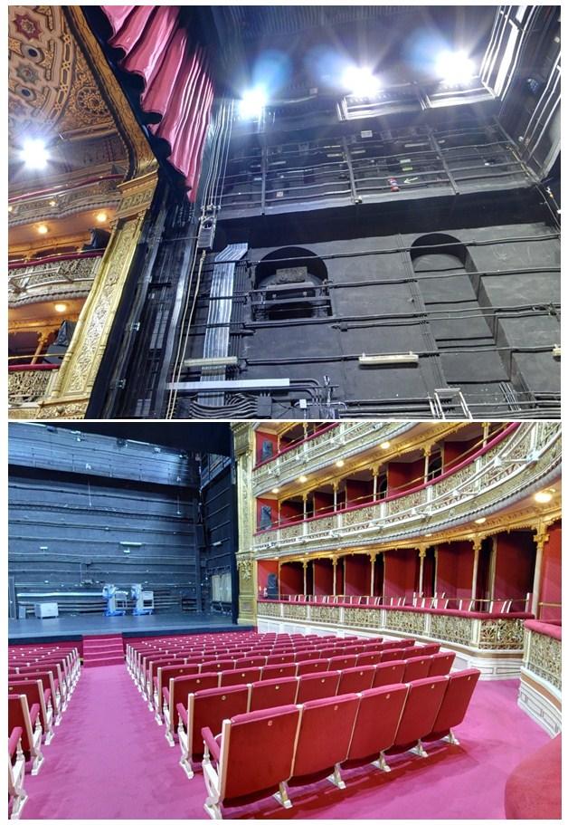 sistemas de elevación de telones para teatros