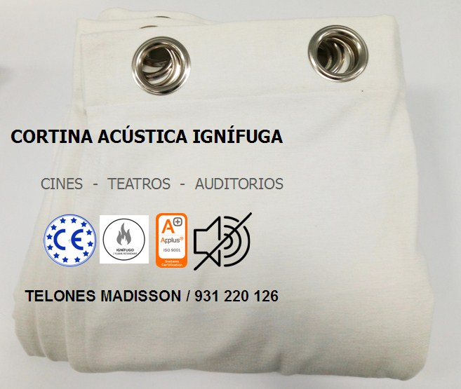 fabricación de cortinas acusticas para cines teatros y auditorios