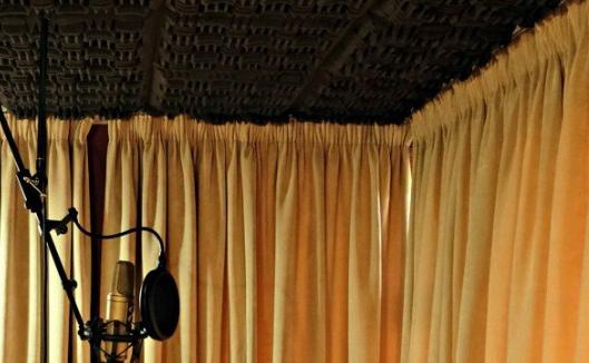 cortinas para aislar un estudio de grabación