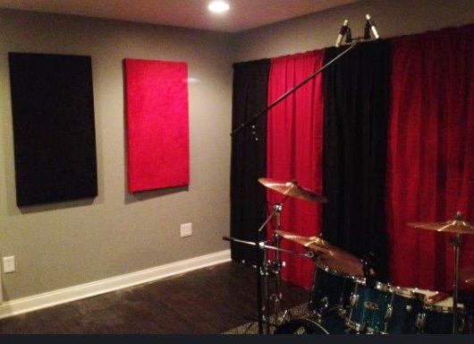 cortinas técnicas acústicas para un estudio de musica